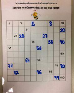 Rincón de una maestra: Matemáticas divertidas: Contamos hasta 100