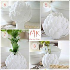 Стильная ваза из одноразовых ложек своими руками + Фото / Идеи для дома / Своими руками