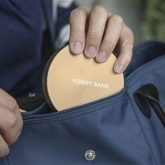 New Circular Metal Design Power Bank 10000mah Portable External Backup Battery Charger Powerbank For iPhone Huawei Samsung LG