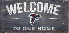 Atlanta Falcons Wall Art Welcome to Our Home Sign