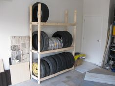 homemade tire rack