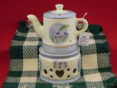 TEAPOT AND WARMER by HiattHousePottery on Etsy