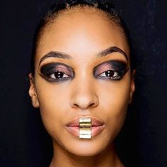 Next level lipart! Have you seen the beautiful metallic lips @balmain? It's real jewellery and a new cool form of grillz created by @dollycohen #pfwfw17 #balmain #staystrong #makeupartist #mua #grillz #behindthescenes #lookoftheday #bestofbeauty #coolbeauty #itaccessories #jewellery #lipart #musthave #photooftheday  via TUSH MAGAZINE OFFICIAL INSTAGRAM - Celebrity  Fashion  Haute Couture  Advertising  Culture  Beauty  Editorial Photography  Magazine Covers  Supermodels  Runway Models