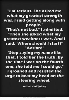 Bloodlines Quotes | Sydney & Adrian