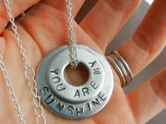 DIY washer stamped necklace!  Deresa you can make these!!!  ; )