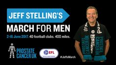 Jeff Stelling starts new March for Men charity walk for Prostate Cancer UK