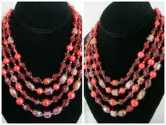 Vintage Trifari Multi Strand Glass Beaded by Sisters2Vintage, $125.00