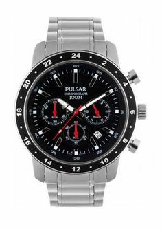 Pulsar Mens Chronograph Stainless Steel Bracelet Watch PT3161X1 Authorised