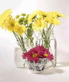 simple flower arrangements for wedding - Google Search