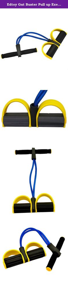 Edtoy Gut Buster Pull up Exerciser Tummy Trimmer Belly Slimming Rowing Action Exerciser. It can be used at home or in the office to shape your body, trim the waist. It helps to strengthen your arms, legs, hips, thighs and works on the tummy at the same time. Material: TPR. Size: 51*25cm.