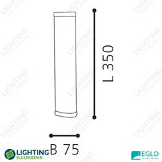 8W Eglo Gita 1 Slimline T5 Fluorescent Vanity Light