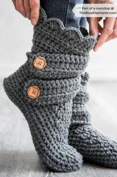 Top 10 Free Crochet Patterns for Slippers & Socks Crochet Boots Pattern, Crochet Slipper Boots, Crochet Socks, Crochet Gifts, Free Crochet Slipper Patterns, Slipper Socks, Knit Slippers Free Pattern, Crocheted Slippers, Free Crochet Top Patterns