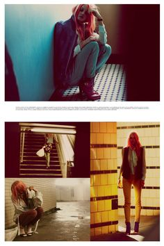 Love Story – Lindsay Ellingson stars in a dreamy story shot by Guy Aroch for the May issue of Interview Russia. Joined by male model Victor Leclerc, the Victoria's Secret beauty channels eighties Berlin style with the selects of fashion editor Gro Curtis featuring the designs of Chanel, Hugo Boss, Dior Homme, Carven and others. Pink dyed tresses by Thomas Hintermeier and smokey eyes by Brigitte Reiss-Andersen bring a flirtatious undertone to the images.