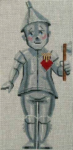 Labors of Love Oz The Tin Man needlepoint hp 18 ct
