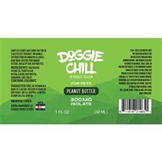 Doggie Chill CBD Isolate Oil for Pets - Peanut Butter