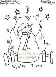 PatternMart.com ::. PatternMart: PM Christmas Stitchery Epattern Snowman