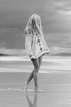 beach, black and white, blonde, endless legs