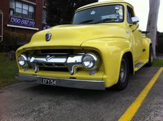 Australian National Old Car Spotters Club 1954 F100 Curves in all the right places.
