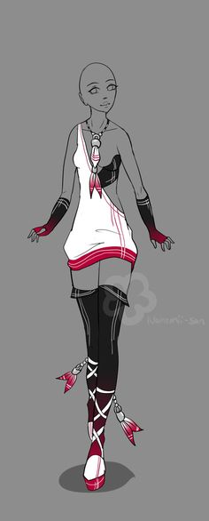 Outfit Adopt - sold by Nahemii-san on deviantART