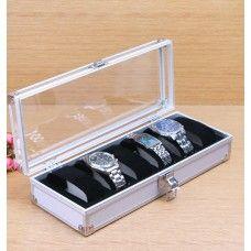 Luxury 6 or 12 Grid Aluminium Watch Box Display Case