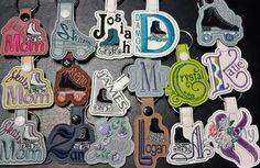 Roller skate keychains Custom order  at: Embroidereddaydreams@aol.com