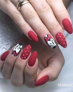 70 Nail Design Ideas for Acrylic Glitter Gel Nail Page 22 of 76 Soflyme Disney Nail Designs, Nail Designs Spring, Simple Nail Designs, Nail Art Designs, Nails Design, Minnie Mouse Nails, Mickey Nails, Mickey Mouse Nail Art, Glitter Gel Nails