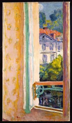 Pierre Bonnard Window Opened at Uriage 1918 Reproduction Oil Painting Pierre Bonnard, Window Art, Gouache, Painting & Drawing, Painting Lessons, Painting Inspiration, Landscape Paintings, Abstract Landscape, Pastels
