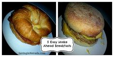 Easy Make Ahead Breakfasts recipes - perfect for busy mornings on school days!