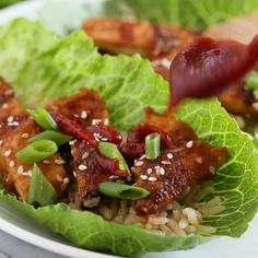 KOREAN GRILLED CHICKEN BREASTS IN LETTUCE WRAPS By: Gina Homolka of Skinnytaste.com 3 Smart Points 180 calories TOTAL TIME: 20 minutes This is the BEST grilled chicken recipe! Not just because I&#8…
