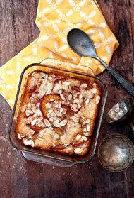 Brown Butter Nectarine Cobbler/Cake: the best cobbler. Ever. Perfect balance of stone fruit, cake, and spices.