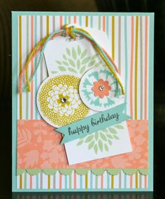 Stampin' Up! SAB Birthday Card by Krystal's Cards and More: Petal Parade Sale-A-Bration