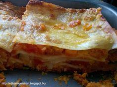 zöldséges lasagne Sandwiches, Pasta, Ethnic Recipes, Food, Pizza, Lasagna, Essen, Meals, Paninis