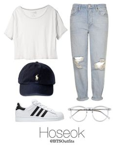 """""""Disneyland with Hoseok"""" by btsoutfits ❤ liked on Polyvore featuring Free People, Topshop, adidas and Wildfox"""