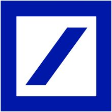 """The Deutsche Bank logo by Anton Stankowski - Wikipedia  Anton Stankowski (June 18, 1906 – December 11, 1998) was a German graphic designer, photographer and painter.   The Deutsche Bank logo was number two in Creative Review's top 20 logos of all time.  Deutsche Bank square is neat visual shorthand for the type of values you might want in a bank security (the square) and growth (the oblique line)""""."""