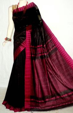 A personal favorite from my Etsy shop https://www.etsy.com/listing/290951869/a64-noil-silk-saree