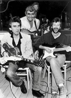 George Harrison, Eric Clapton, and Carl Perkins