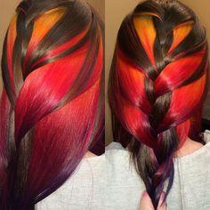 Luscious Sunset Hair