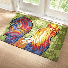 @Overstock   Fashion Fresh From The Farm, This Mohawk Rooster Rug Features  A 100 Percent Nylon Construction That Is Non Allergenic As Well As Fade U2026