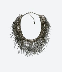 ZARA - WOMAN - CRYSTAL FRINGE NECKLACE