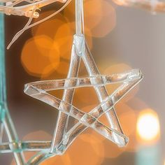 glass star christmas decoration - clear by jo downs glass