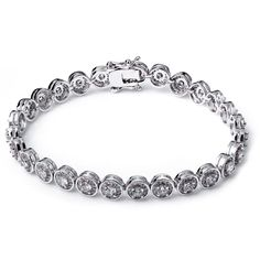 Trendy Fine Round Bracelets Lead Free White Color High Quality Cubic Zirconia Chain & Link Bracelets for Women Fine Jewelry