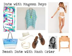 """Date with Magcon Boys : Beach Date with Nash Grier"" by x-jademurphy-x ❤ liked on Polyvore"