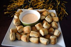 Tailgate Food | Soft Pretzel Bites + Beer Cheese Dip
