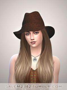 Fedora Hat at Salem2342 • Sims 4 Updates http://sims4updates.net/accessories/fedora-hat-at-salem2342/