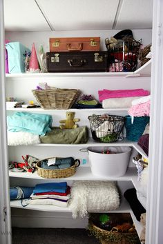love idea of a big closet for a studio space---get the props organized