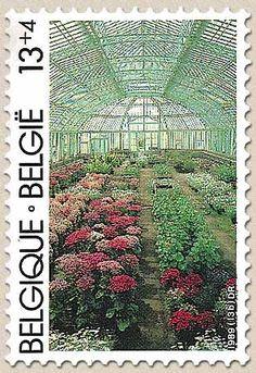 belgian stamps Solidarity  Royal Verandah of Laken - Winter garden