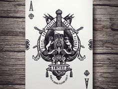 Empire Playing Cards - Ace of Spades (Kickstarter) by Lee McKenzie