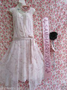 SOUTH PINK FLOATY FLAPPER 20'S STYLE CHARLESTON DRESS SZ 12 Bridesmaid Dress?