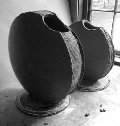 catherine-white:  Moon vases for the October firing  http://www.catherinewhite.com/rough-ideas/