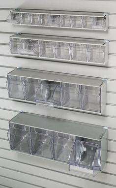 Handi 6 Tilt Bin Storage Unit 6 Tilt Bin Storage Doors with Labels, Unit is 4 H x 23 L Bins open and close for easy access. Made in the USA All tilt bins require clip for mounting to HandiWall Dental Office Decor, Dental Office Design, Wall Storage, Storage Bins, Clothes Storage, Pet Clothes, Plastic Storage Units, Office Organization At Work, Garage Organization